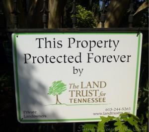 Land Trust sign crop